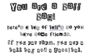 Bag of balls for a ball bag